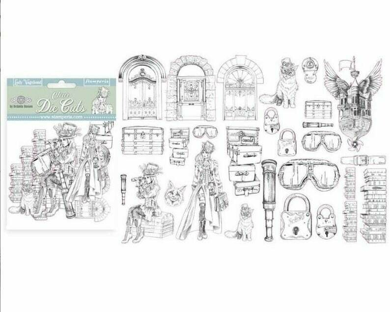 Lady Vagabond CLEAR Assorted Die Cut Pieces - Stamperia