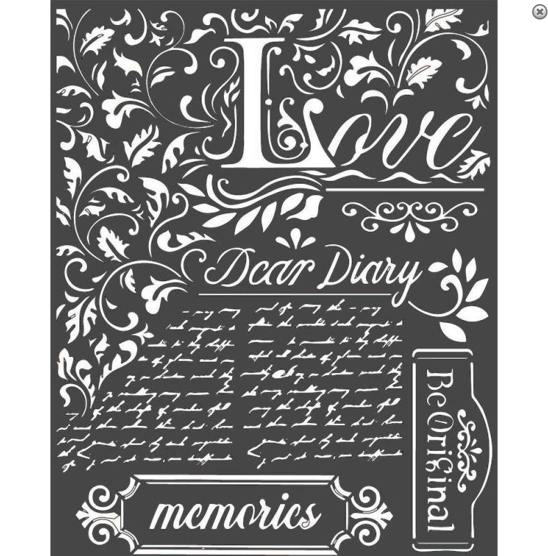Dear Diary Mixed Media Stencil - Stamperia