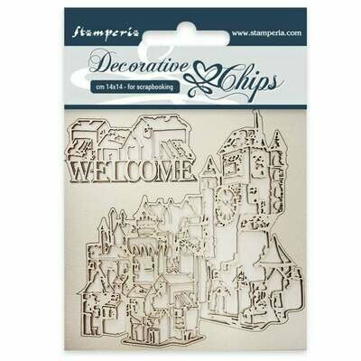 Welcome Decorative Chips - Lady Vagabond Collection - Stamperia