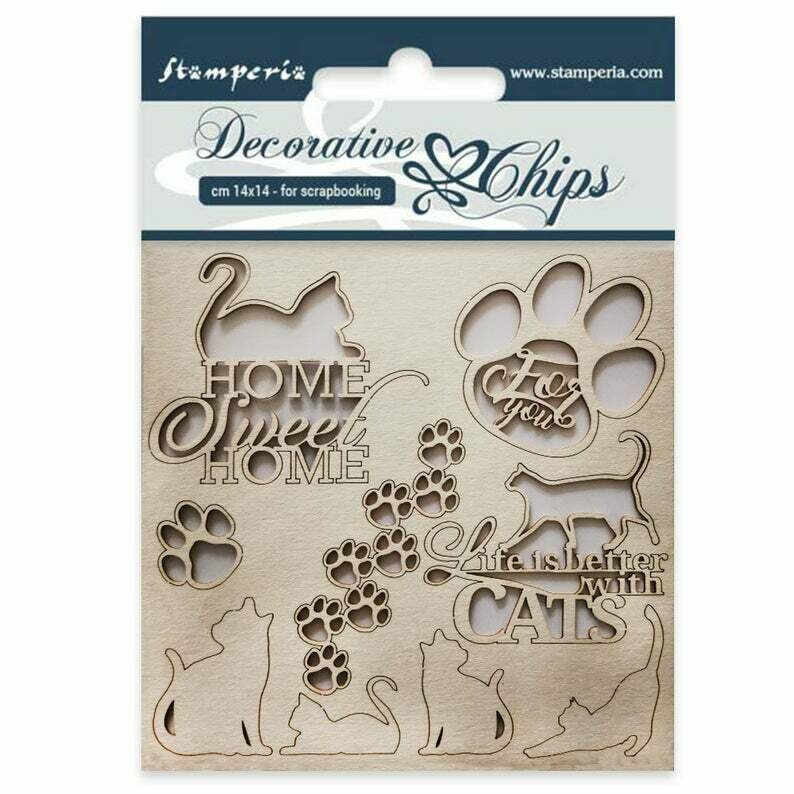 Cats Decorative Chips - Orchid and Cats Collection - Stamperia