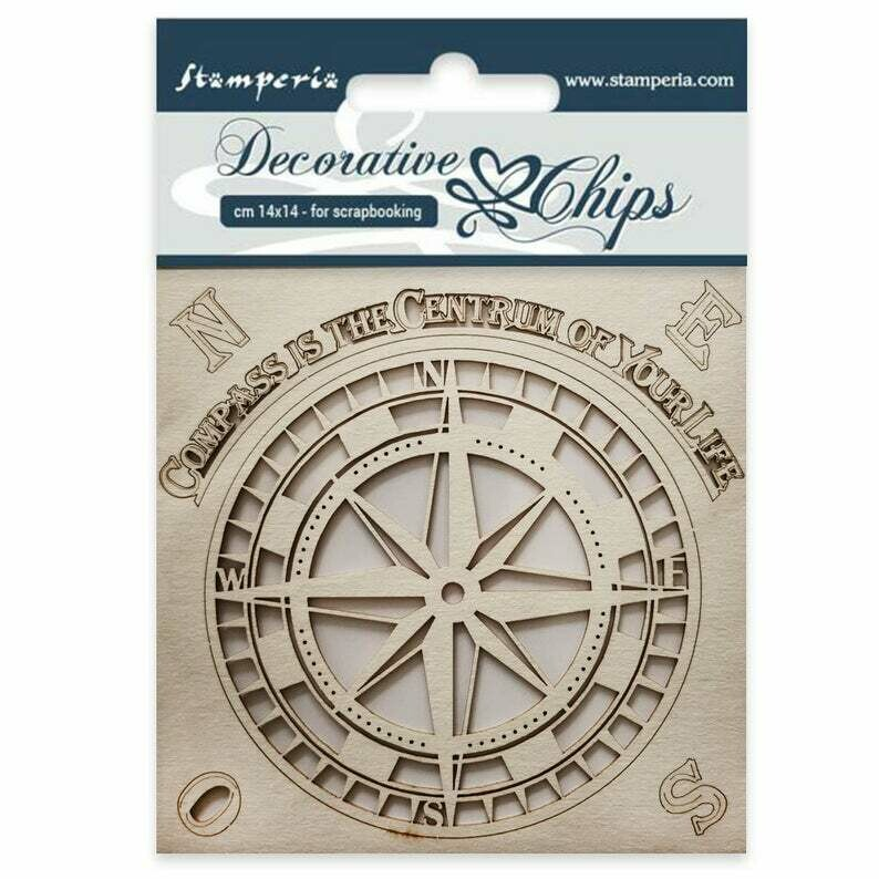 Compass Decorative Chips - Sir Vagabond Collection - Stamperia