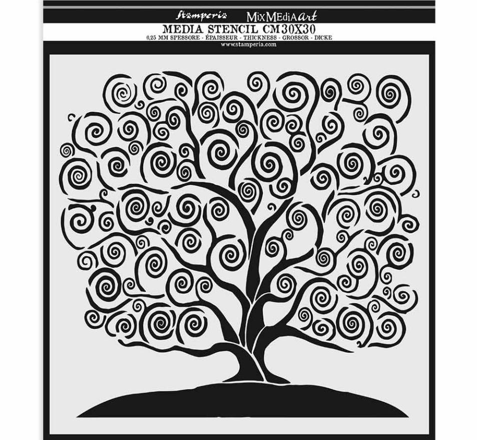 Tree of Life Mixed Media Stencil - Stamperia