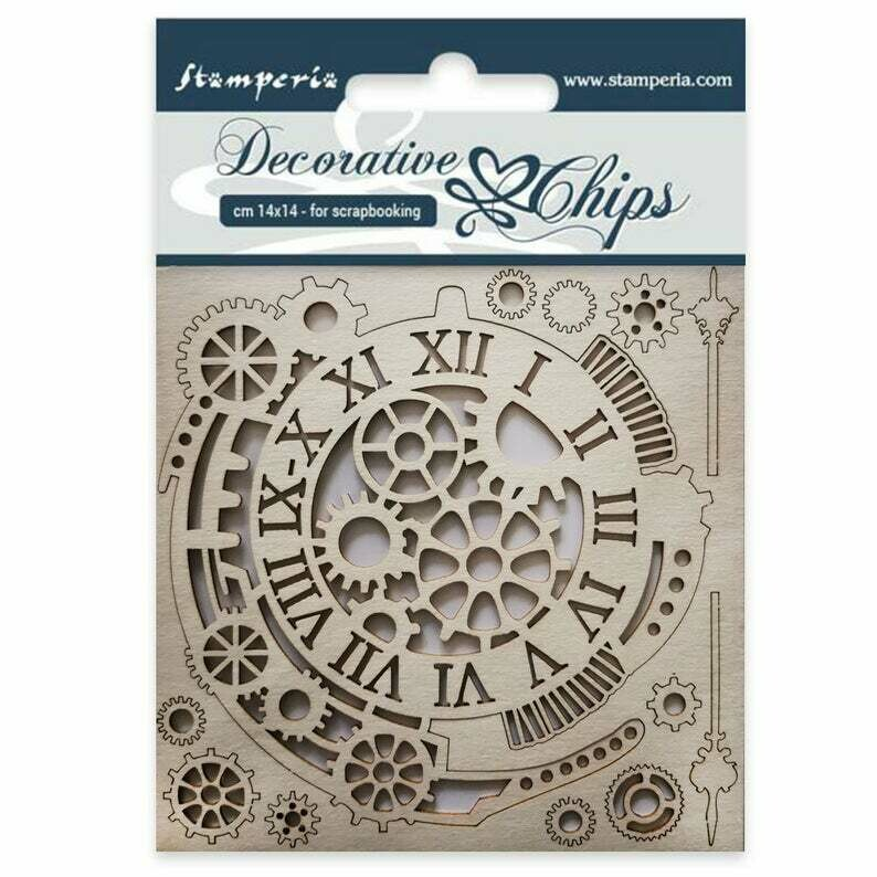 Gears and Clocks Decorative Chips - Sir Vagabond Collection - Stamperia