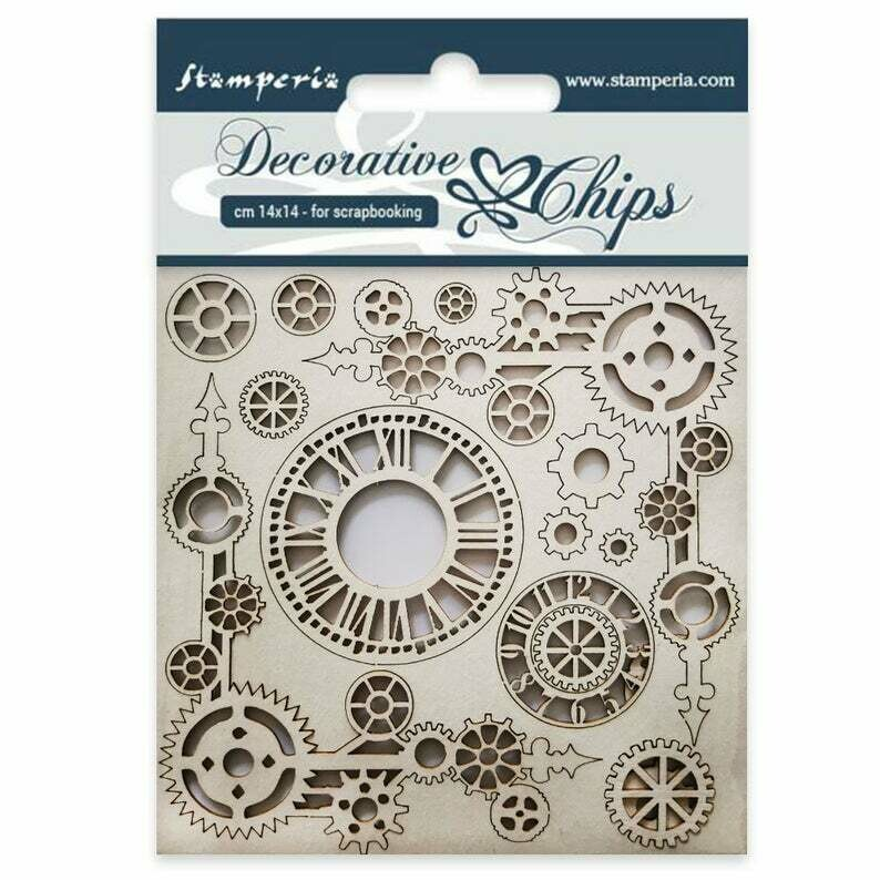 Clock and Corners Decorative Chips - Lady Vagabond Collection - Stamperia