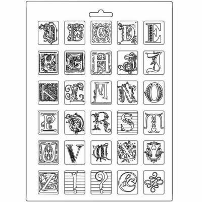 Alphabet A4 Soft Mould - Calligraphy Collection - Stamperia