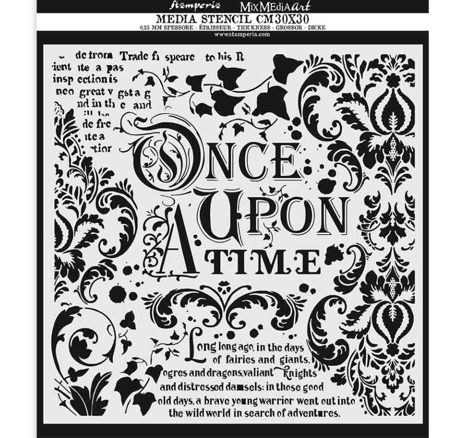 Once Upon a Time Mixed Media Stencil - Stamperia