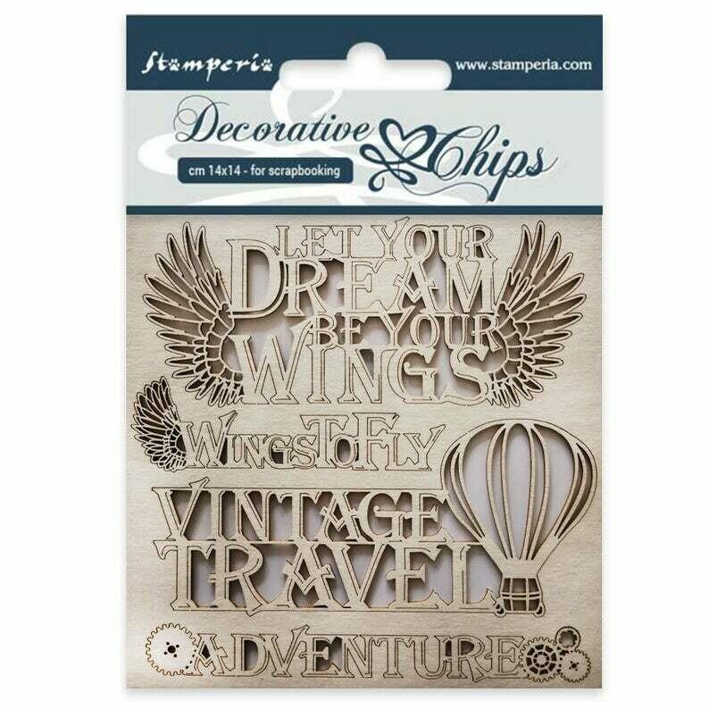 Adventure Decorative Chips - Sir Vagabond Collection - Stamperia
