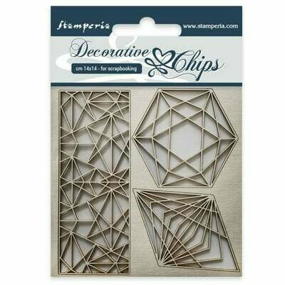 Geometry Decorative Chips - Sir Vagabond Collection - Stamperia