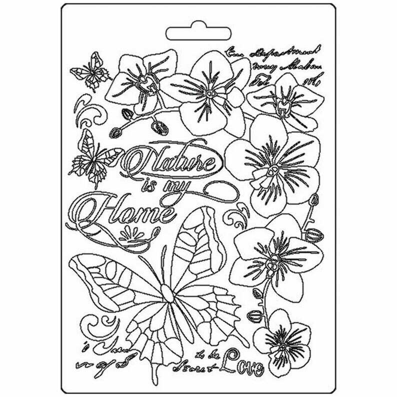 Nature is My Home A5 Soft Mould - Orchid and Cats Collection - Stamperia