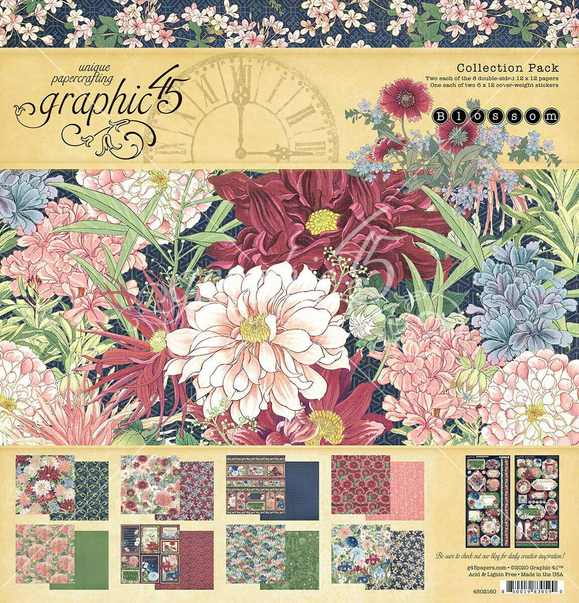 Blossom 12x12 Collection Pack With Stickers - Graphic 45