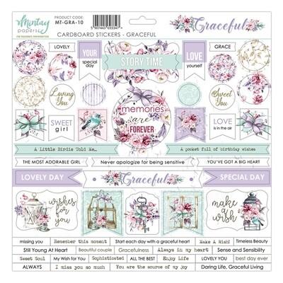 Graceful Chipboard Stickers - Mintay by Karola