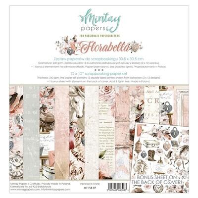 Florabella 12x12 - Mintay by Karola