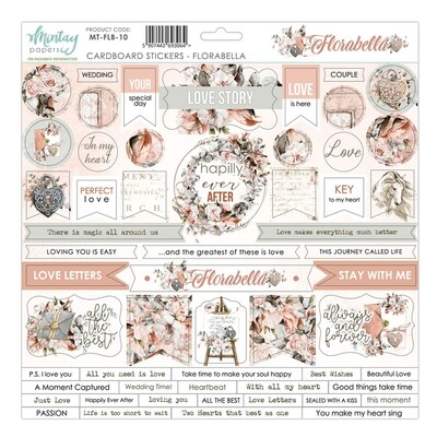 Florabella Chipboard Stickers - Mintay by Karola
