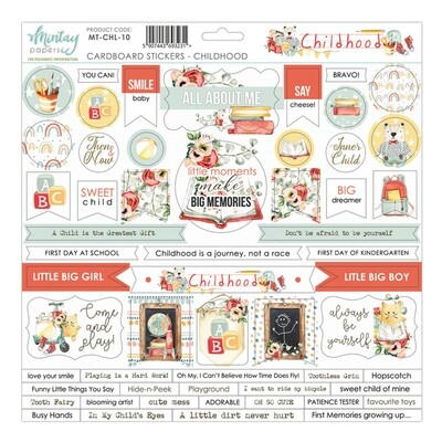 Childhood Chipboard Stickers - Mintay by Karola