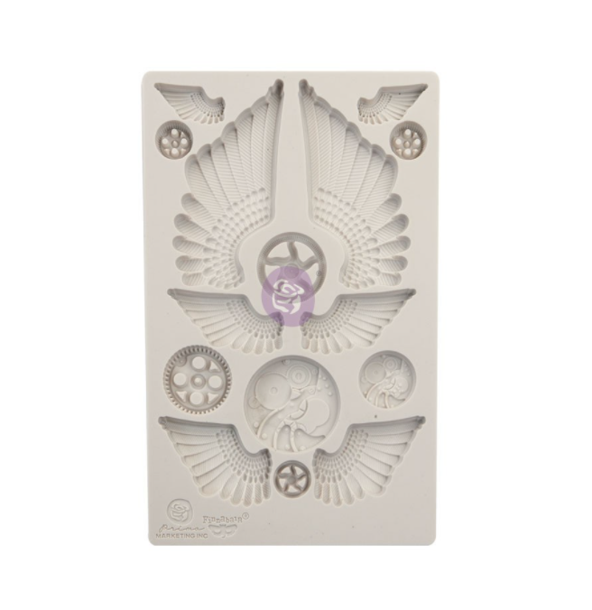 Cogs and Wings - Redesign Decor Moulds - Re-Design With Prima