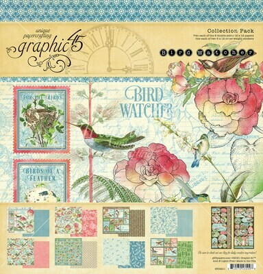 Bird Watcher 12x12 Collection Pack With Stickers - Graphic 45