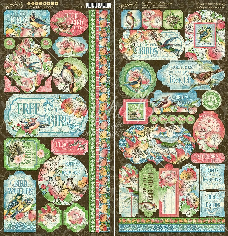 Bird Watcher Stickers - Graphic 45