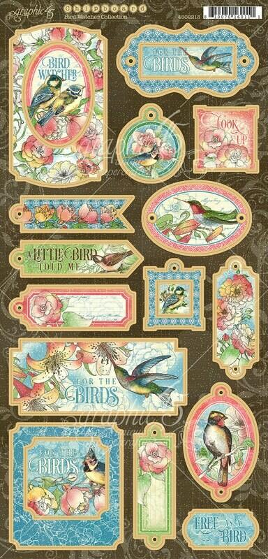Bird Watcher Chipboard - Graphic 45