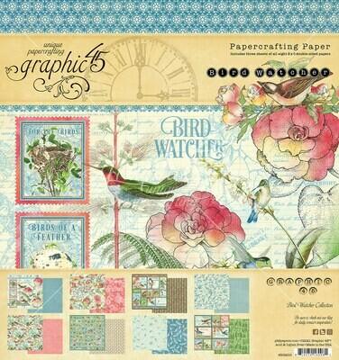 Bird Watcher 8x8 Paper Pad - Graphic 45