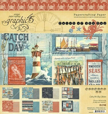 Catch of the Day 8x8 Paper Pad - Graphic 45