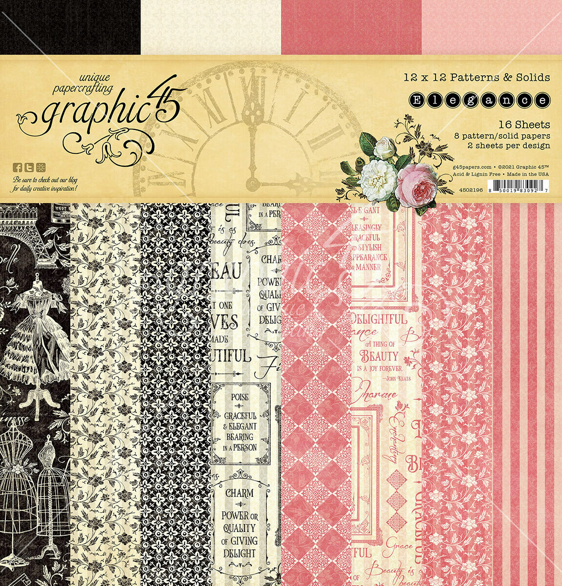 Elegance 12x12 Patterns and Solids - Graphic 45