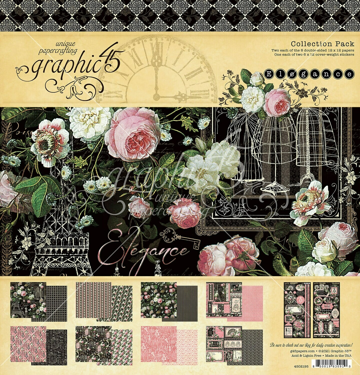 Elegance 12x12 Collection Pack With Stickers - Graphic 45