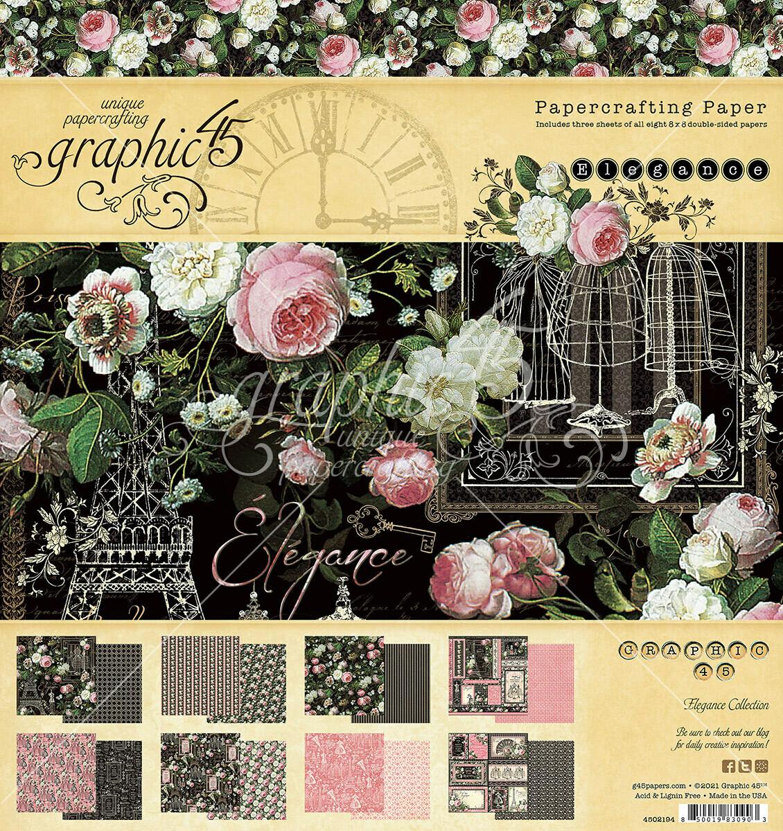 Elegance 8x8 Paper Pad - Graphic 45