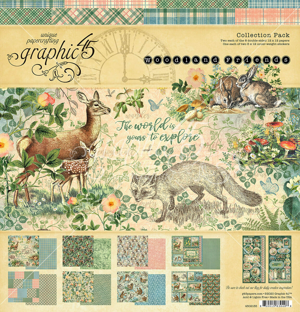 Woodland Friends 12x12 Collection Pack With Stickers - Graphic 45
