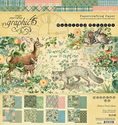 Woodland Friends 8x8 Paper Pad - Graphic 45