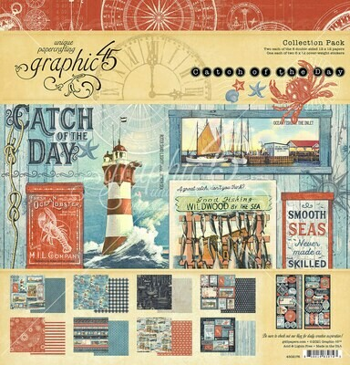 Catch of the Day 12x12 Collection Pack With Stickers - Graphic 45