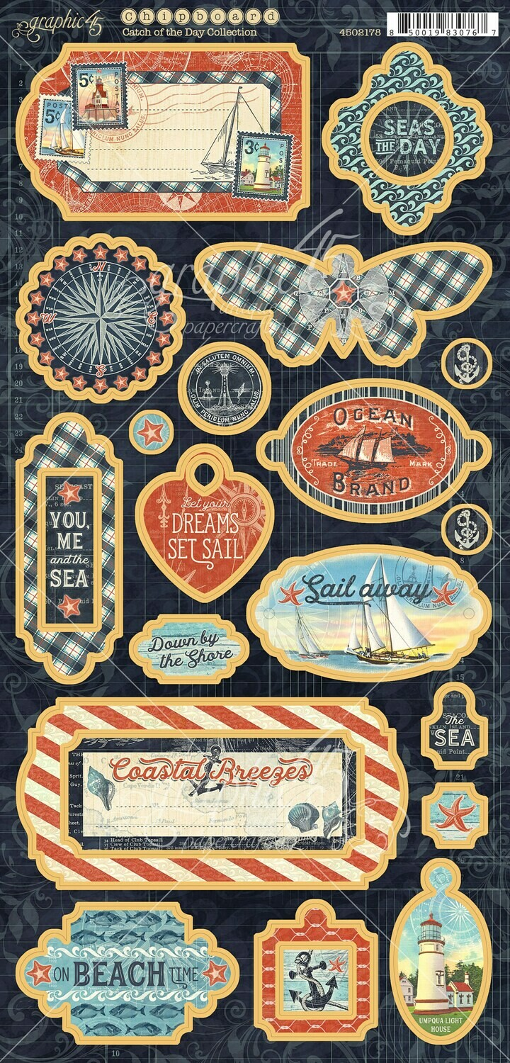 Catch of the Day Chipboard - Graphic 45