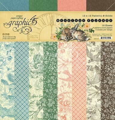 Woodland Friends 12x12 Patterns and Solids - Graphic 45