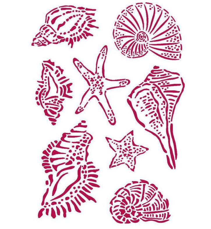 Shells Stencil - Romantic Sea Dream Collection - Stamperia