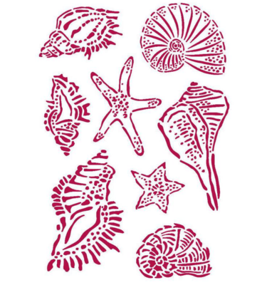 Shells Stencil - Romantic Sea Dream Collection - Stamperia