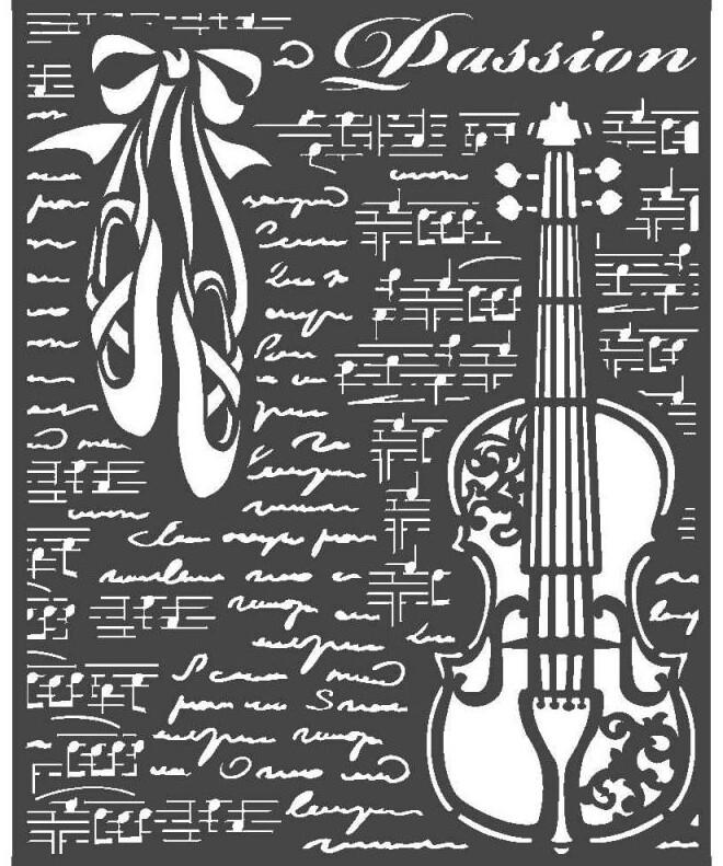 Violin Stencil - Passion Collection - Stamperia