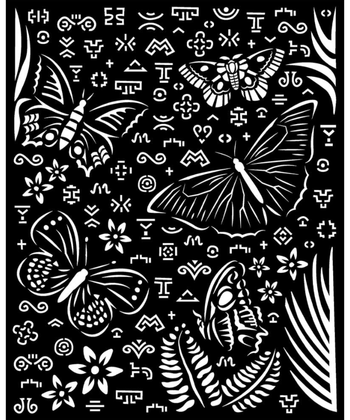Butterflies Stencil - Amazonia Collection - Stamperia