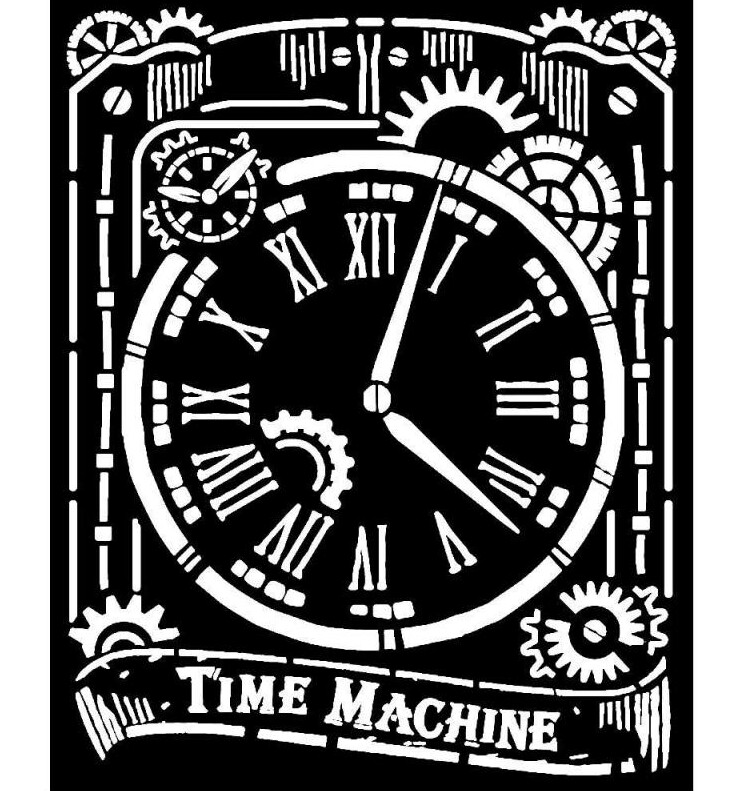 Clock Stencil - Stamperia
