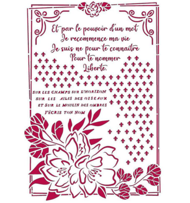 Flower with Frame Stencil - Romantic Journal Collection - Stamperia