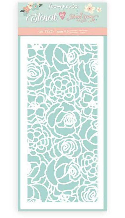 Texture Roses Stencil - Circle of Love Collection - Stamperia