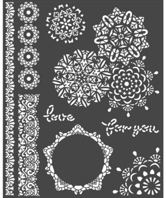 Laces Stencil - Passion Collection - Stamperia