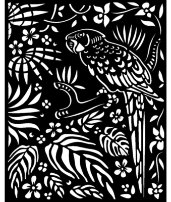 Parrot Stencil - Amazonia Collection - Stamperia
