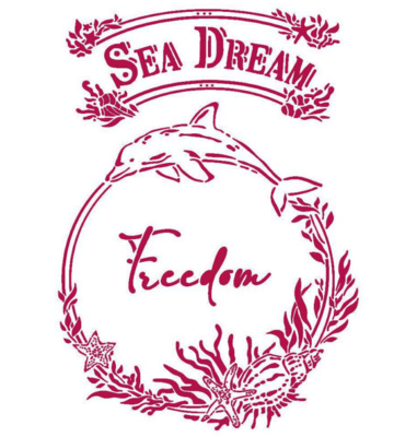 Freedom Stencil - Romantic Sea Dream Collection - Stamperia