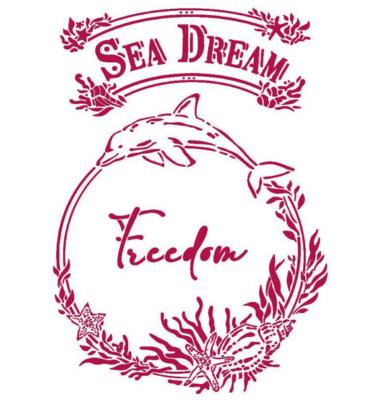 Freedom Stencil - Romantic Sea Dream Collection - Stamperia