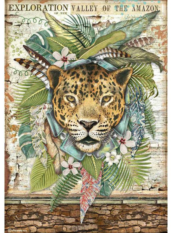 Jaguar A4 Rice Paper - Amazonia Collection - Stamperia