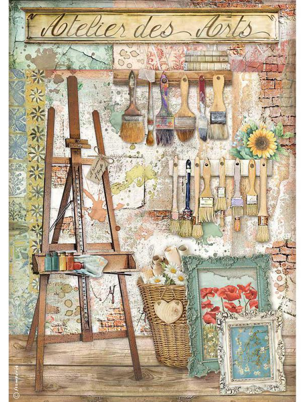 Easel A4 Rice Paper - Atelier Des Arts Collection - Stamperia