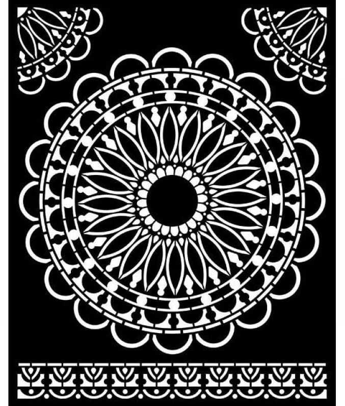 Round Lace Stencil - Atelier Des Arts Collection - Stamperia