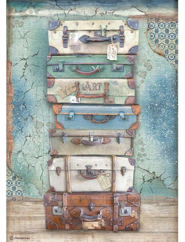 Luggage A4 Rice Paper - Atelier Des Arts Collection - Stamperia