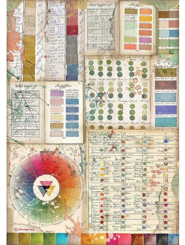 Pantone Charts A4 Rice Paper - Atelier Des Arts Collection - Stamperia