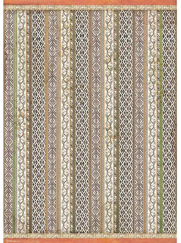 Tribal Texture A3 Rice Paper - Amazonia Collection - Stamperia