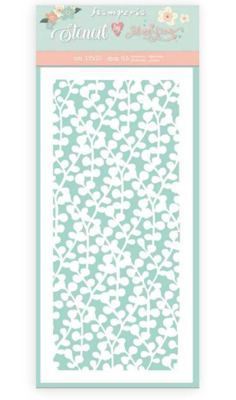 Texture Branches Stencil - Circle of Love Collection - Stamperia